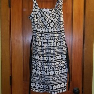 Motherhood Maternity black and white floral dress